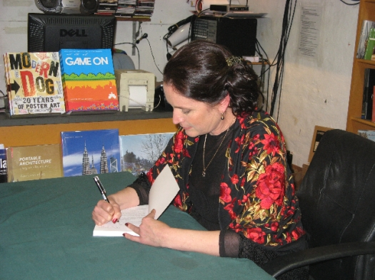 Book signing at the launch of Being in Love - 16th August 2008
